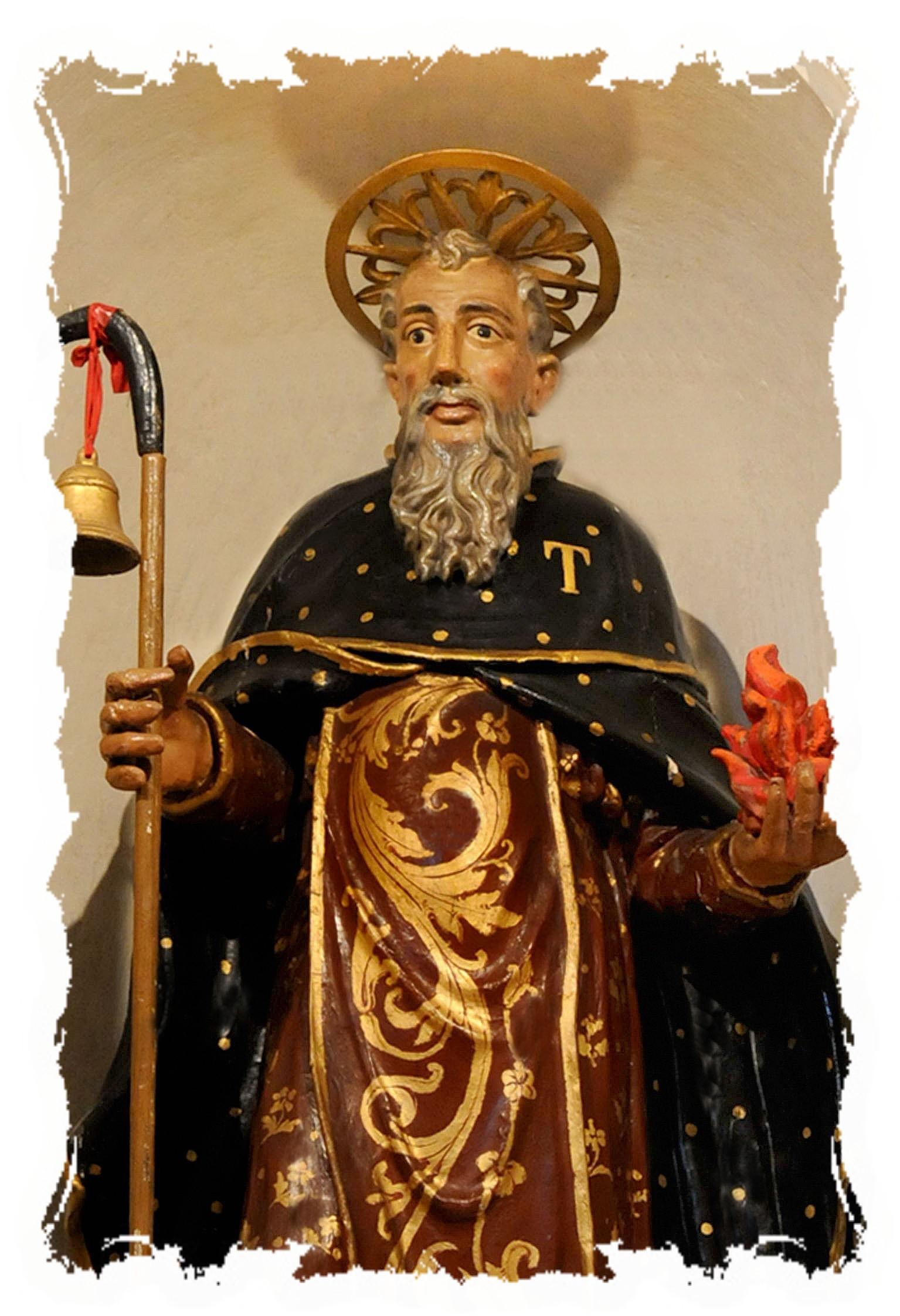 statua San Antonio particolare